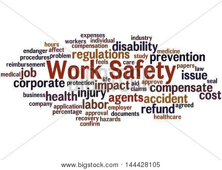 Work Safety, Word Cloud Concept 3