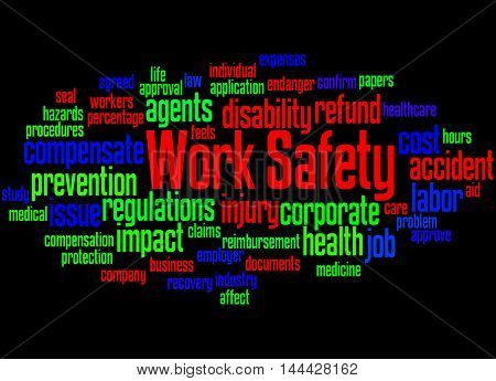 Work Safety, Word Cloud Concept 6