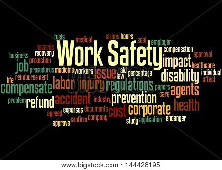 Work Safety, Word Cloud Concept 9
