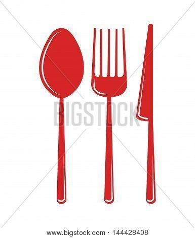 set utensils kitchen icon vector illustration design