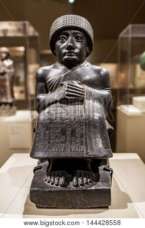 Statue Of Gudea From Mesopotamia