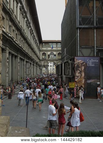 Gli Uffizi In Florence