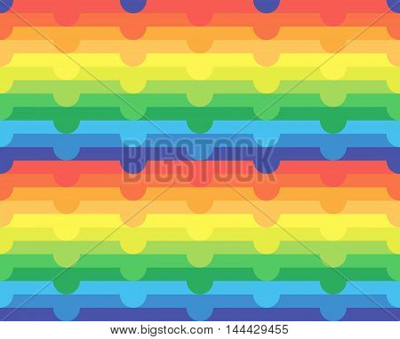 Seamless Abstract Rainbow Pattern Background