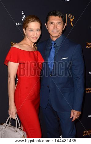 LOS ANGELES - AUG 25:  Wife, Lou Diamond Phillips at the 4th Annual Dynamic & Diverse Celebration at the TV Academy Saban Media Center on August 25, 2016 in North Hollywood, CA