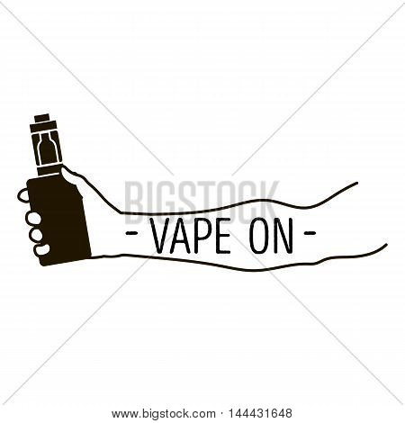 Emblem Of An Electronic Cigarette In Hand
