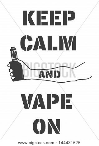 Poster With An Electronic Cigarette In Hand