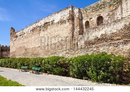 Section Of The Ancient Walls Of Thessaloniki