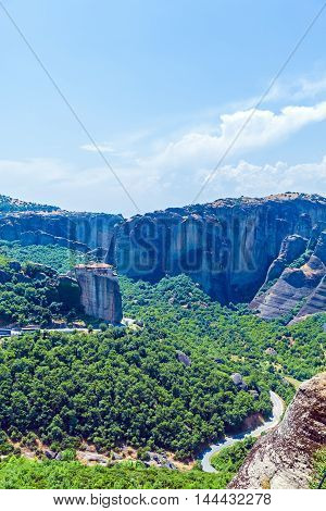 Roussanou monastery in Meteora area Thessaly Greece