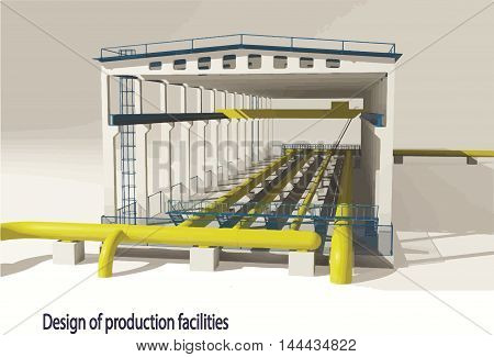 design of production facilities, industry, tube, gas