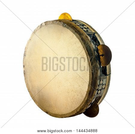 Traditional Musical Instument Egyptian Tambourine Made Of Camel Skin