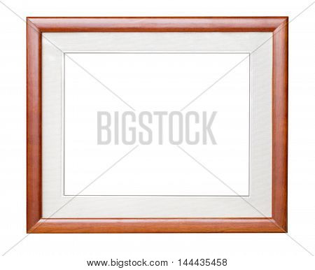 brown wooden frame with clipping path isolated om white