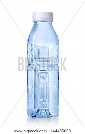 plastic water bottle isolated on a white background with clipping path