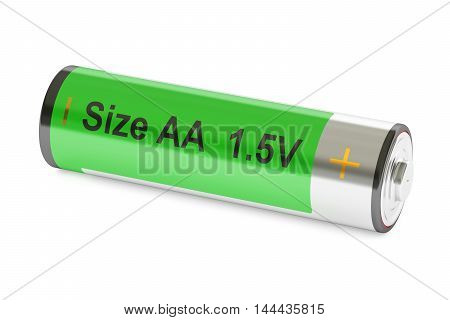 Battery size AA 3D rendering isolated on white background