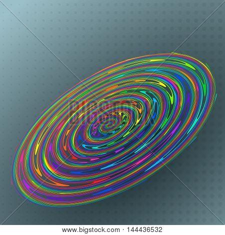 Vector illustration abstract colorful rainbow cheerful circle