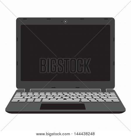 Illustration of laptop screen, notebook. Vector illustration.