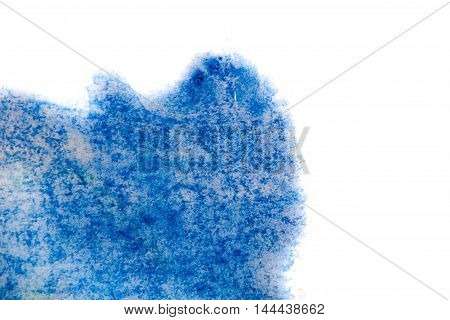 splashes of watercolor blue white contrasting drops. Futuristic style card. concept Elegant for business presentations. Chaos aesthetics. Moving colorful paint splash. place for text