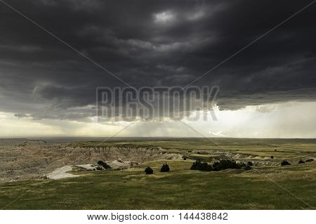 Storm Over The Badlands of South Dakota