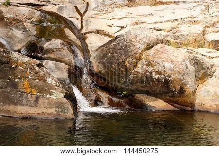 Water Flow - Meiringspoort Waterfall In De Rust