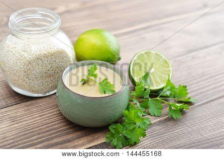 Tahini Made From Sesame Seeds