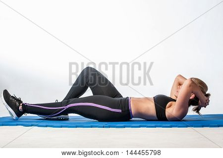 Girl Doing Crunches