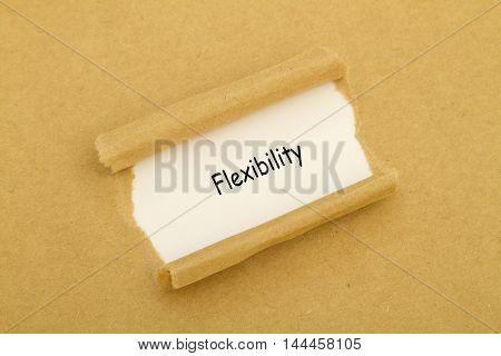 Flexibility word written under torn paper .