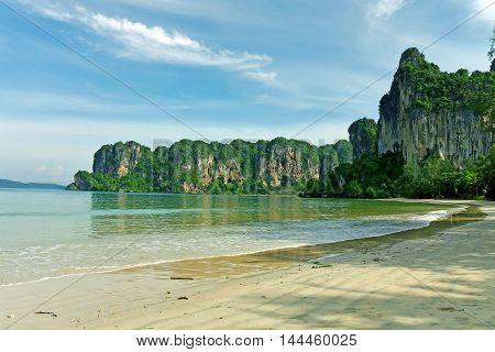 A beautiful view of Railay beach, Thailand.