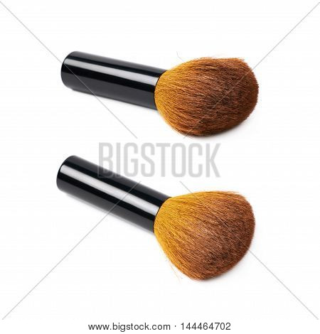 mushroom makeup brush isolated over the white background, set of two different foreshortenings