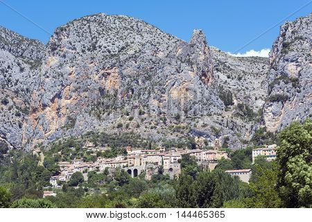 Little village in the mountains Provence south of France