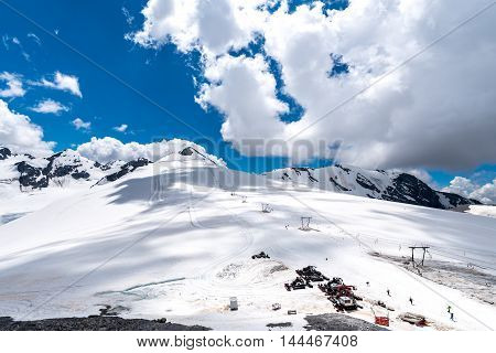 Ski Station In High Alps