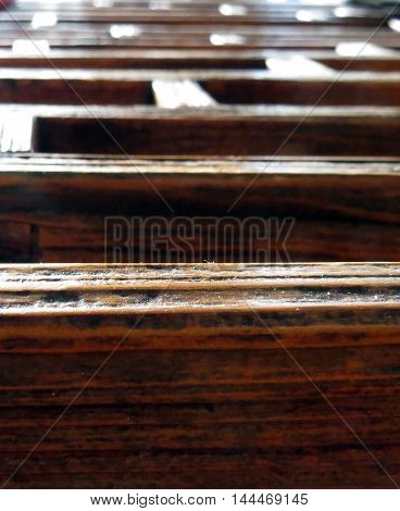 A close-up of wooden panels, Ideal background image