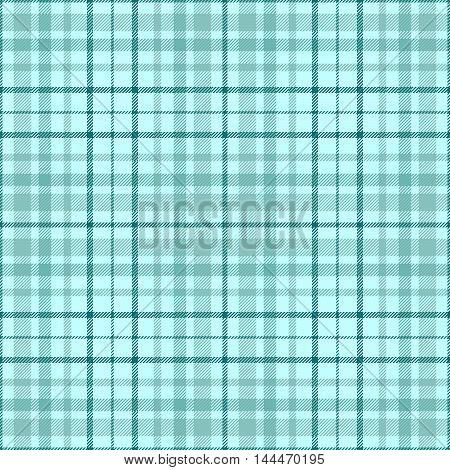 Seamless tartan plaid pattern in pale aquamarine & teal.