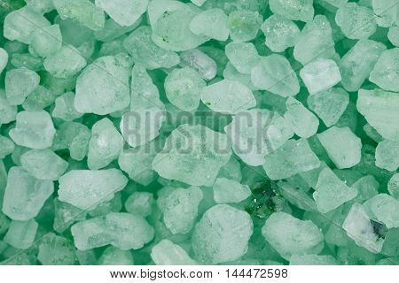 Surface coated with the salt crystals as a backdrop composition