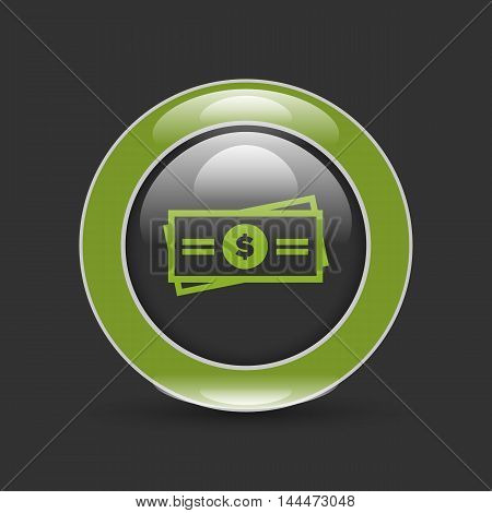 payment icons set with card and cash signs