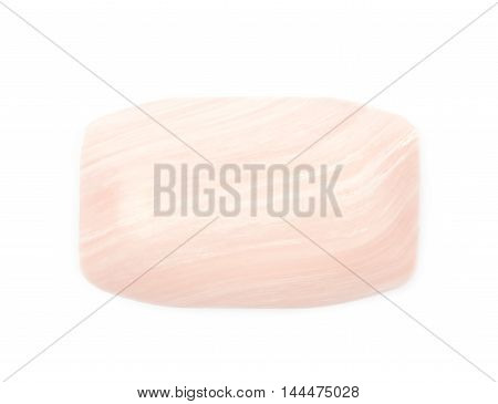 Single piece of parfumed bath soap isolated over the white background