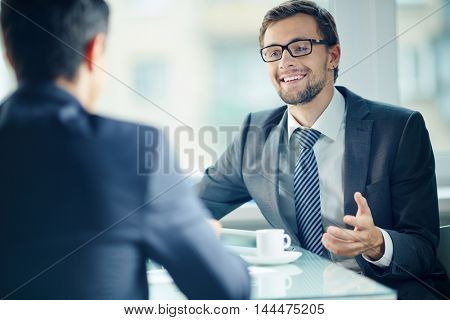 Business people at interview