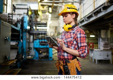 Woman in factory