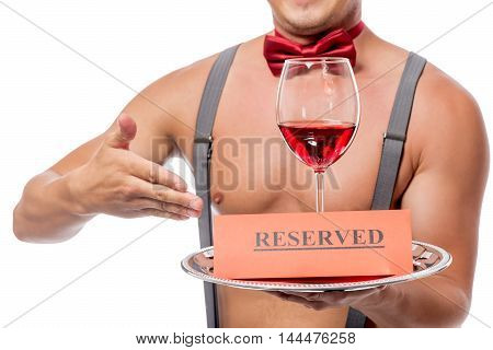 Reservation Glass Of Red Wine For Woman