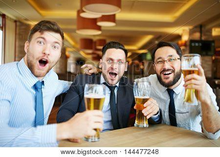 At sport bar