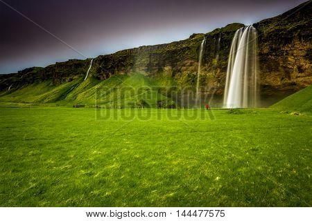 The amazing Seljalandsfoss waterfall in Iceland