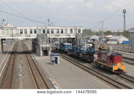 Big Railway In A Nice Summer Day