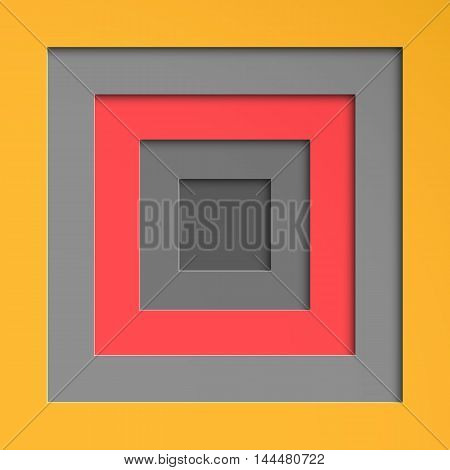 Decorative substrate geometric background, cutting out colored paper with shadow . Vector Image .