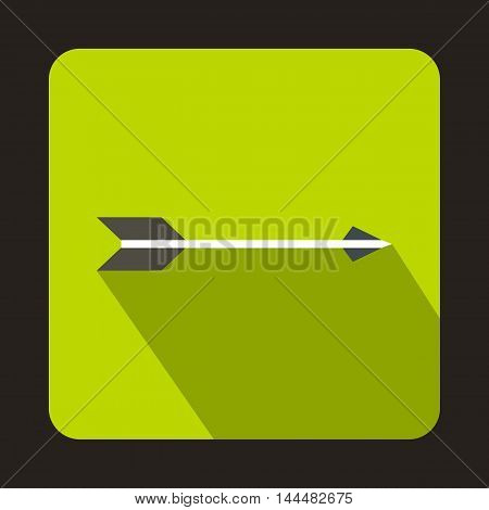 Hunting arrow icon in flat style with long shadow