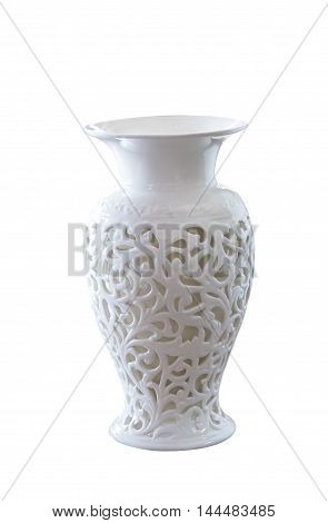 white vase elegance on a white background