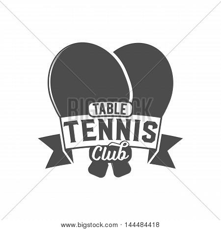 Table tennis ping pong label, logo, badge and design elements. Sport logotype template