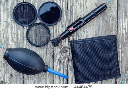 a set of filters and tools for cleaning