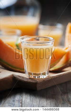 Sweet Alcoholic Liqueur With Melon