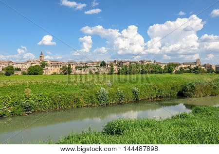 Bevagna (Umbria) scenic view panorama in daylight