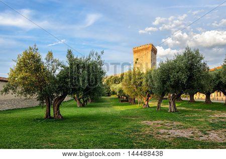 Castiglione del Lago (Umbria) Fortezza scenic view