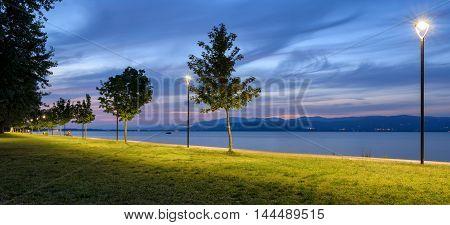 Lago Trasimeno (Umbria) Panorama at Castiglione del Lago