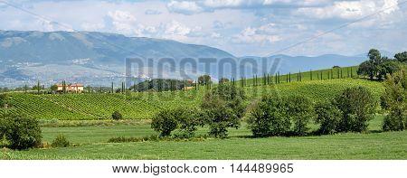 Umbria (Italy) scenic beautiful landscape near Bevagna